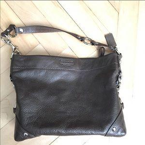 Coach Carly Brown Leather Handbag